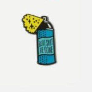 5/$24 Blue Bullshit Begone Spray Can Pin Brooch